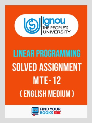 MTE-12 IGNOU Solved Assignment 2019-20 in English Medium