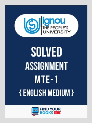BSc MTE-1 in English Solved Assignment English Medium 2019-20