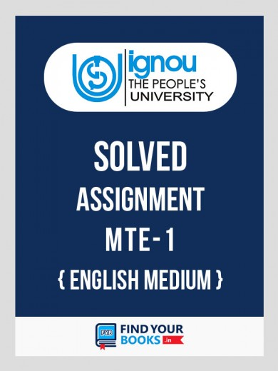 BSc MTE-1 in English Solved Assignment English Medium 2018-19