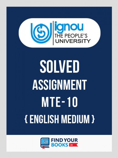 BSc MTE10 in English Solved Assignment 2018-19