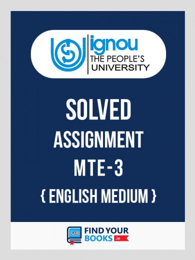 BSc MTE-3 in English Solved Assignment 2018-19