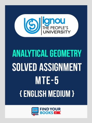 BSc MTE-5 in English Solved Assignment 2019-20