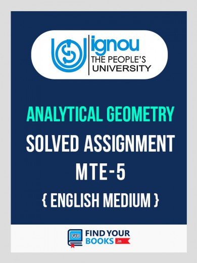 BSc MTE-5 in English Solved Assignment 2018-19