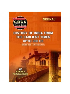 BHIC-131 Book : History of India from the Earliest times upto 300 CE in English Medium
