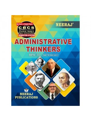BPAC-132 Books : Administrative Thinkers in English Medium