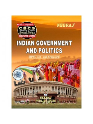 BPSC-132 Book : Indian Government and Politics in English Medium