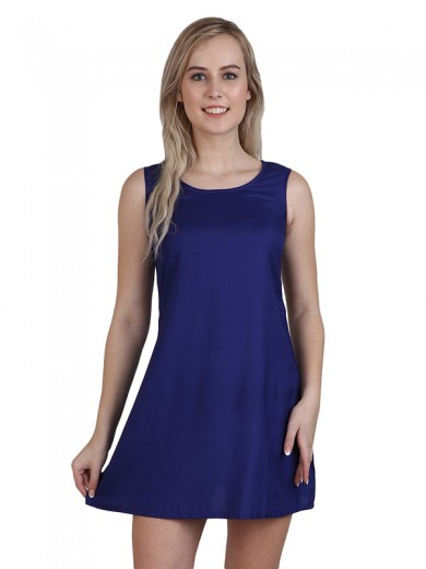 Magnogal Women  Royal Blue Dress DR-82 C