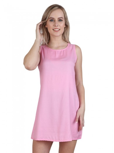 Magnogal Women  Baby Pink Dress DR-82 D