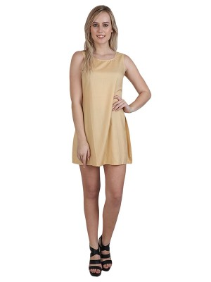 Magnogal Women Royal Beige Dress DR-82 H