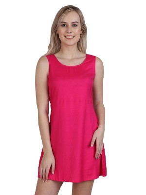 Magnogal Women Cranberry Pink Dress DR-82 J
