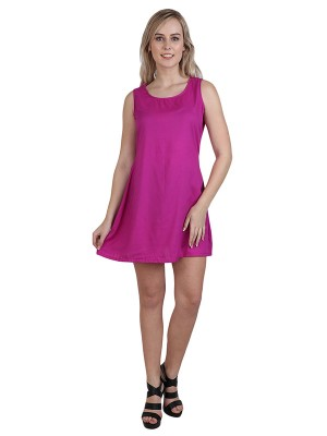 Magnogal Women Magnetic Magenta Dress DR-82 K