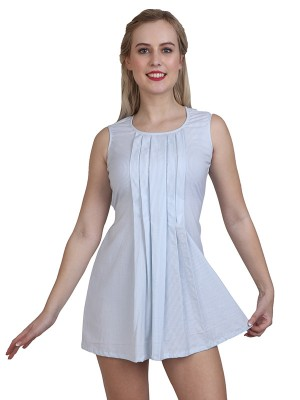 Magnogal Women Decent White Dress DR-82 M