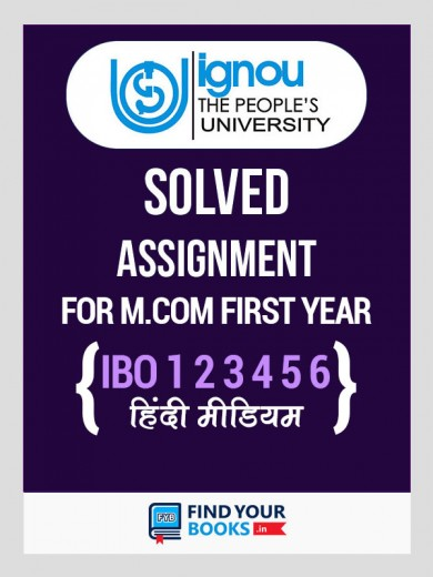 M.Com 1st Year Solved Assignment 2019