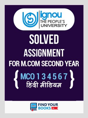 IGNOU M.Com MCO-1, 3, 4, 5, 6, 7  Solved Assignments 2019-20 in Hindi Medium - Second Year
