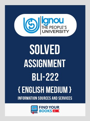 BLI-222 IGNOU Solved Assignment 2018-19