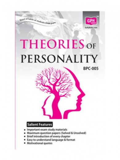 ignou bpc-005,BPC5 Theories of Personalities- Ignou Guide for BPC-5