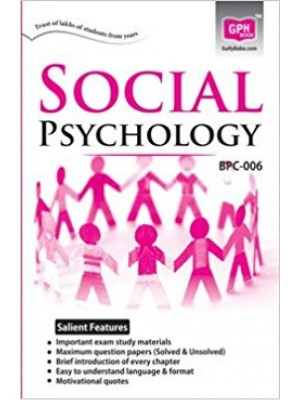 BPC6 Social Psychology ( IGNOU Guide Book For BPC6 ) English Medium