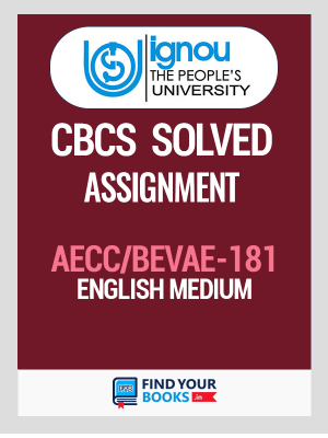 AECC/BEVAE-181 Solved Assignment for Ignou 2020-21 in English Medium