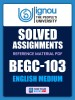 BEGC-103 Solved Assignment for Ignou 2020-21