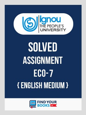 ECO-7 in English Solved Assignment 2019-20