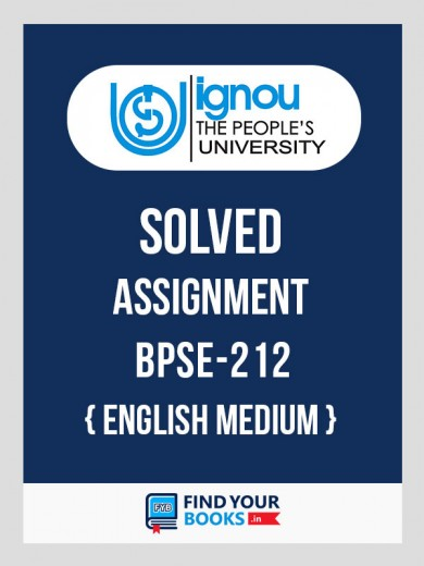 EPS-12 / BPSE-212 IGNOU Solved Assignment 2019-20 in English Medium