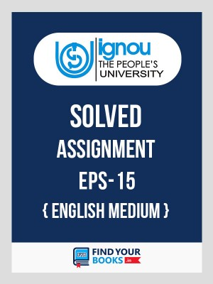 EPS-15 IGNOU Solved Assignment 2019-20 in English Medium