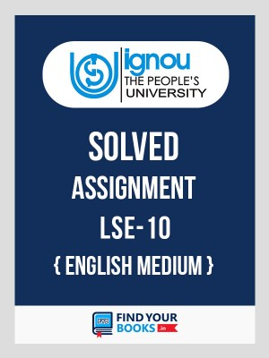 BSc LSE-10 in English Solved Assignment 2018-19