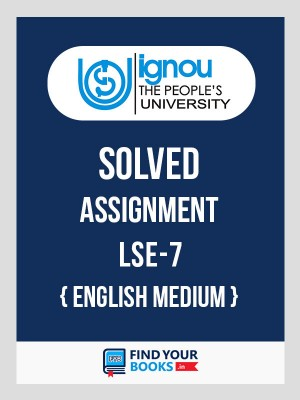 BSc LSE-7 in English Solved Assignments 2018-19