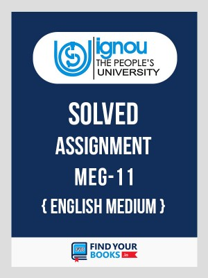 MEG-11 IGNOU Solved Assignment 2018-19