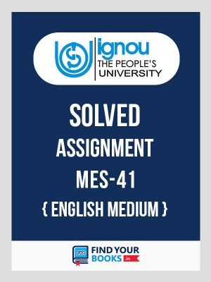 IGNOU MES-41 Solved Assignment English 2019  for Jan-2019 & July-2019 in English Medium