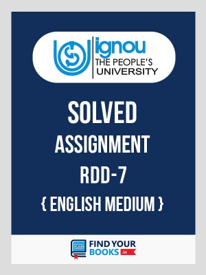 RDD-7 IGNOU Solved Assignment 2018-19 in English Medium