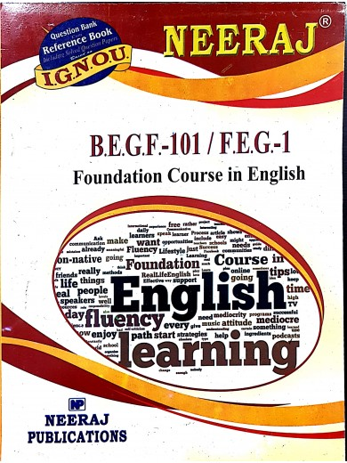 BEGF-101/FEG-1 Foundation Course in English- IGNOU Guide for BEGF101 or FEG1