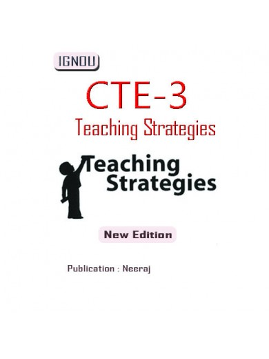 CTE-03 Teaching Strategies: IGNOU Book