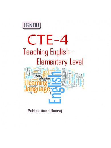 CTE-4 Teaching English (Elementary Level): IGNOU Book