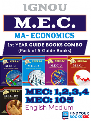 MA Economics First Year - Reference Books in English Medium Combo