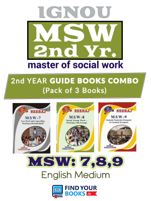 IGNOU MSW-7,MSW-8, MSW-9 Combo Of Books in English Medium for 2nd year