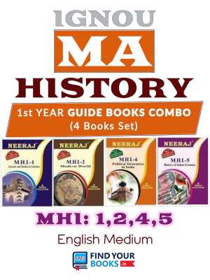 IGNOU MHI1, MHI2, MHI4 & MHI5 in English Medium - MA History 1st Year Reference Books Combo