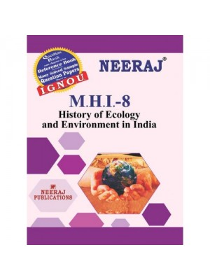 IGNOU : MHI-8 History of Ecology and Environment in India (ENGLISH)