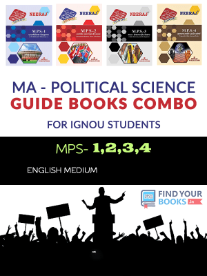 IGNOU : MPS-1, MPS-2, MPS-3,MPS-4 in Hindi Medium - Combo Books