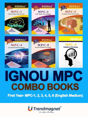 IGNOU MPC-1 To MPC-6  - MA Psychology (MAPC)  - Combo Books