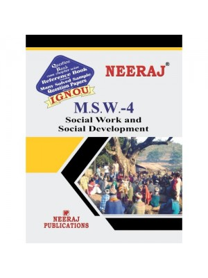 MSW-4 Social Work and Social Development (ENGLISH)