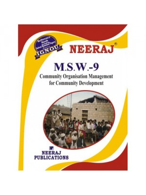 MSW-9 Community Organization Management for Community Developments in English Medium