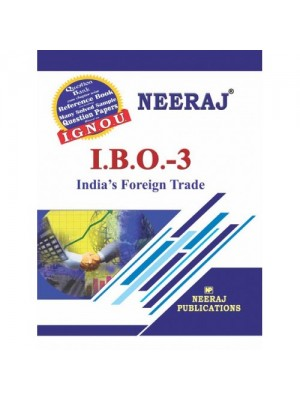 IGNOU IBO-3 India's Foreign Trade : IGNOU Guide Book in English Medium