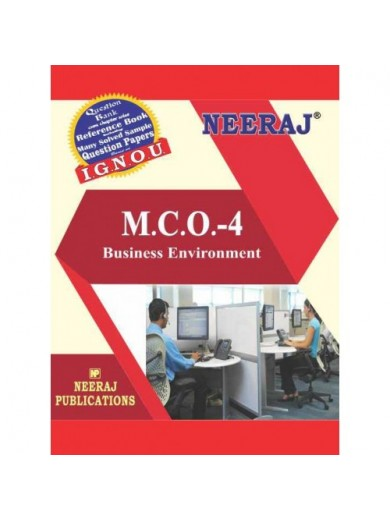 MCO-4 Business Environment  - IGNOU Guide Book For MCO4 - English Medium