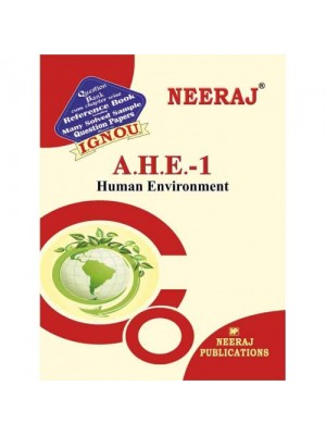 IGNOU AHE-1 Human Environment in Hindi