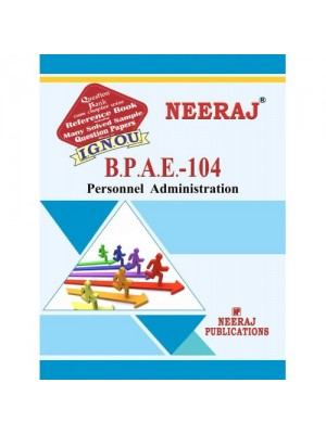 EPA-4/BPAE-104 Personnel Administration IGNOU Guide  Book For BPAE-104  ( English Medium )