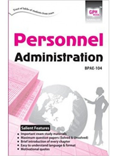 BPAE - 104 Personnel Administration (IGNOU Help book for BPAE-104 in English Medium)