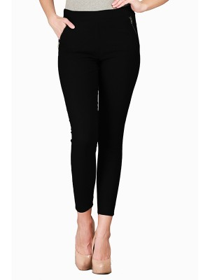 Magnogal Women Solid BLACK JEGGING BO-100 A