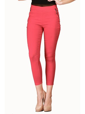 Magnogal Women Solid RED JEGGING BO-100 G