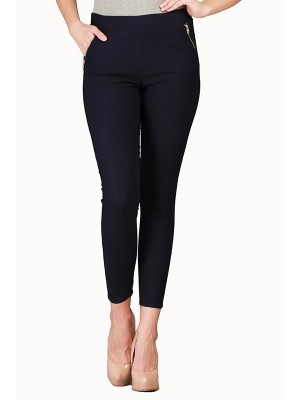 Magnogal Women Solid BLUE JEGGING BO-100 I